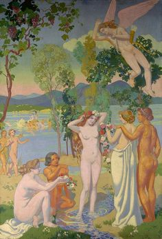 Eros Is Struck by Psyche's Beauty - Maurice Denis 1908