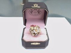 Signed Juicy Couture Spring Garden Ring in original box size 7 AB419 #JuicyCouture