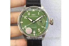 IWC Big Pilot Real PR IW5009 SS YLF Green Dial A51111
