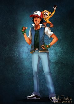 Aladdin and Abu as Ash and Pikachu | 10 Disney Heroes Dressed Up In Awesome Halloween Costumes ash ketchum, halloween costumes, abu, disney princ, disney halloween, isaiah stephen, pikachu, disney characters, aladdin