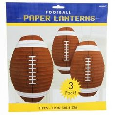 Football paper lanterns - great for football parties