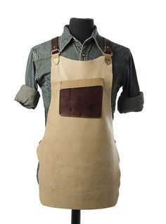 """Started by industrial designer Michael Williams, Calavera Tool Works is a new company creating products to support craftspeople. They recently rolled out their line of hard-wearing leather shop aprons: """"We feel like the folks building fine furniture and cabinetry deserve gear that's just as comfortable and durable as the high"""