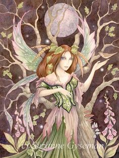 Art by Suzanne Gyseman   Fairy Myth Mythical Mystical Legend Elf Faerie Fae Wings Fantasy Elves Faries Sprite Nymph Pixie Faeries Hadas Enchantment Forest Whimsical Whimsey Mischievous
