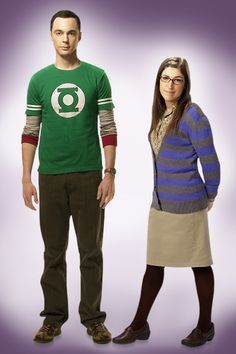 Mayim Bialik as Amy Farrah Fowler and Jim Parsons as Sheldon Cooper--The Big Bang Theory