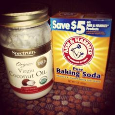 If you want the softest, clearest skin, use these together! 2tbsp baking soda, 1/2 tsp coconut oil and enough water to make a paste is enough for your neck and face. Scrub for 3 min then rinse with cold water! Immediately saw a difference. Smaller pores and glowing skin! And the coconut oil moisturizes your skin for you! by nadia