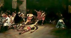Painted by Juan Luna y Novicio (1857- 1899). He is one of the first recognized Filipino painters. His work, The Spoliarium, has garnered him the gold medal inExposición Nacional de Bellas Artes.This painting is hung on the National Museum of the Philippines as of right now.