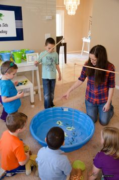 Looks like they have all gone fishing! Party game fun.