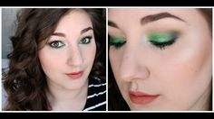 Foiled Green Eye Shadow & Peach Lips Featuring Makeup Geek's Voodoo