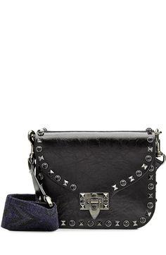 VALENTINO Rockstud Small Leather Shoulder Bag. #valentino #bags #shoulder bags #leather #stone #