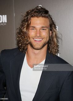 Cole Monahan is seen at the 'Celebration of Hope' event during Long Curly Hair Men, Long Hair Cuts, Curly Hair Styles, Long Hair Man, Mens Long Hair Styles, Girls Short Haircuts, Haircuts For Men, Boy Hairstyles, Grunge Hair