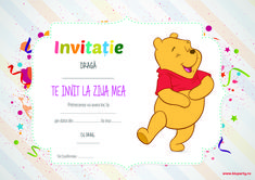 invitatie zi de nastere winnie the pooh Winnie The Pooh, No Rain No Flowers, New Tattoos, All Art, My Images, Mickey Mouse, Disney Characters, Baby, Balcony