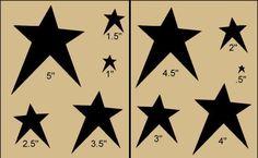 Primitive Stencil~Prim Stars~Country Folk Art Paint  #HorseyFeathersPrimitiveStencils