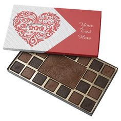 Personalized Red BFF Heart 45 Piece Box Of Chocolates