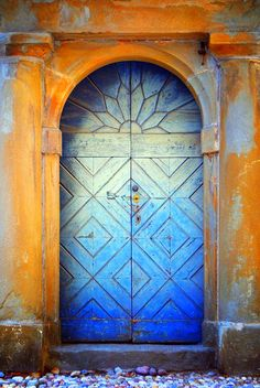 Beautiful faded blue door. www.SeaCoastRealty.com #door #blue #realestate