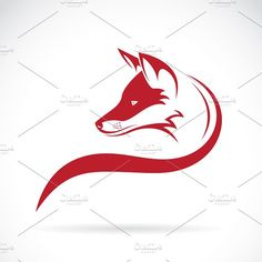 Vector image of an fox head by on Creative Market Fox Tattoo, Wolf Tattoos, Feather Tattoos, Fox Racing Logo, Fox Logo, Renard Logo, Fuchs Silhouette, Fuchs Tattoo, Tribal Fox