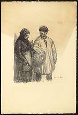 Original Vintage Print Theophile Alexandre Steinlen WWI World War Refugee French