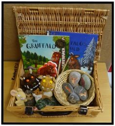 "The Gruffalo story basket from Rachel ("",)"