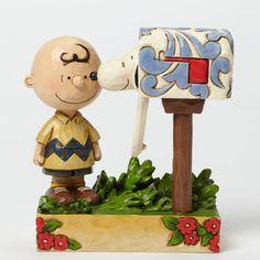 Jim Shore Peanuts Charlie Brown Mailbox 4042380 - http://collectiblefigurines.net/jim-shore/peanuts/jim-shore-peanuts-charlie-brown-mailbox-4042380/