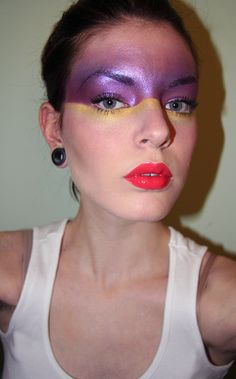 Not such a great pic, but love the bold colour makeup with a subtle underline in contrast.