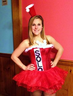 Red solo cup halloween costume, one to remember