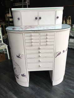 This beautiful cabinet is painted in Vintro Candyfloss.