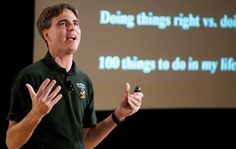 Randy Pausch, late professor Carnegie Mellon University and author of The Last Lecture. Special People, Good People, The Last Lecture, World Book Encyclopedia, Randy Pausch, Famous Speeches, One Of The Guys, Important Things In Life, All That Matters