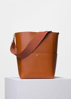 Seau Sangle Shoulder Bag in Tawny Supersoft Calfskin - Céline Celine  Handbags, Purses And Handbags 35f25719fc