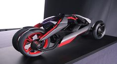 Future technology Concept Audi Nexus with the heart of the machine and soul motorcycle