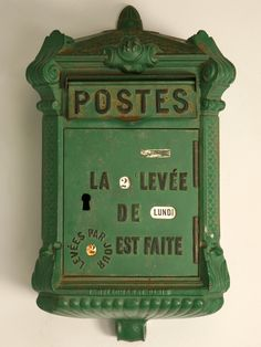 Antique French Steel Post Box.