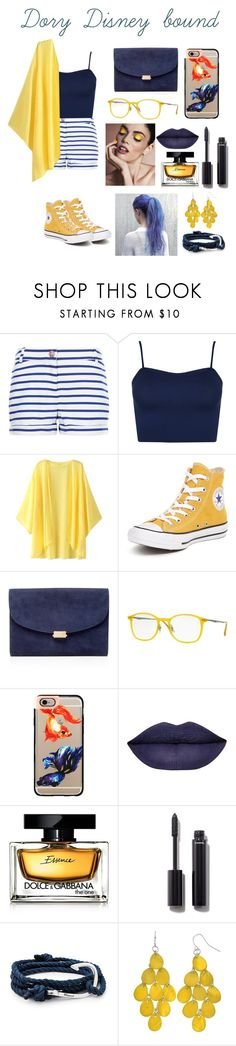"""""""Dory Disney bound"""" by aribear12 ❤ liked on Polyvore featuring Petit Bateau, WearAll, Converse, Mansur Gavriel, Ray-Ban, Casetify, Dolce&Gabbana, Chanel and MIANSAI"""