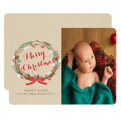 #CHANGE COLOR - Holiday Christmas Photo Card - #Xmascards #ChristmasEve Christmas Eve #Christmas #merry #xmas #family #holy #kids #gifts #holidays #Santa #cards