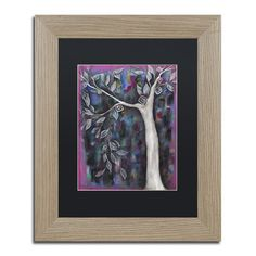 """Trademark Art 'Zofia' by Abril Andrade Framed Graphic Art Size: 14"""" H x 11"""" W x 0.5"""" D, Matte Color: Black"""