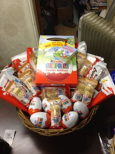 Kinder egg surprise birthday hamper birthday gift for boy girl kinder egg easter hamper negle Choice Image