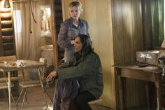 Fargo FX   Season 2   Zahn McClarnon as Hanzee Dent & Kirsten Dunst as Peggy Blumquist