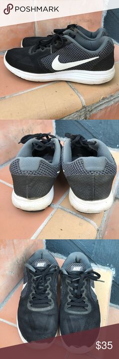 Women's Nike Revolution 3 Sneakers Great for running or for wearing on the go. These black Nike Revolution 3's are versatile and in great condition. Nike Shoes Athletic Shoes