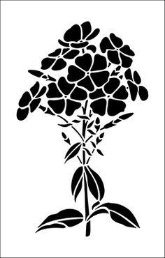 Phlox stencil from The Stencil Library GARDEN ROOM range. Buy stencils online. Stencil code GR16.