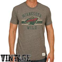 Original Retro Brand Minnesota Wild Tri-Blend T-Shirt - Ash
