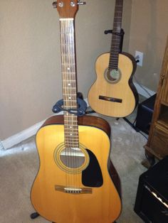Vintage Fender Acoustic Guitar by RainbowGuitars on Etsy, $150.00