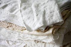I love vintage linens.