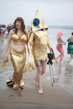 The Mermaid Parade @ Coney Island Mermaid Parade, Coney Island, Carnival, Princess Zelda, Celebrities, Fictional Characters, Google Search, Style, Fashion