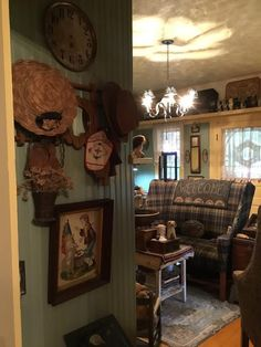 Primitive Home Decorating, Primitive Homes, Country Primitive, Prim Decor, Country Decor, Farmhouse Decor, Cameron Homes, Primitive Living Room, Ann Wood