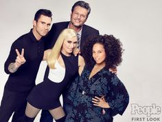 Blake Shelton, Adam Levine, Gwen Stefani and Alicia Keys open up about their close friendships on set of NBC's hit singing competition show