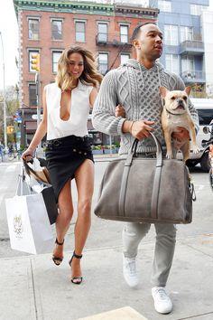 Chrissy Teigen and John Legend in New York City on Dec. 1, 2014. Getty -Cosmopolitan.com