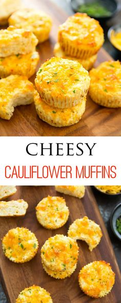 No carb diets 388787380326752069 - Cheesy Cauliflower Muffins. Low carb, gluten free and easy. No need to dry out the cauliflower! No Carb Recipes, Baby Food Recipes, Gluten Free Recipes, Diet Recipes, Vegetarian Recipes, Cooking Recipes, Healthy Recipes, Soup Recipes, Protein Recipes