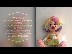 Como tejer payasa técnica amigurumi crochet - YouTube