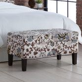 Found it at Wayfair - Skyline Furniture Silsila Fabric Storage Bedroom Bench