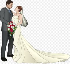 Wedding Illustration, Couple Illustration, Wedding Images, Wedding Designs, Wedding Dress Drawings, Couple Clipart, Wedding Symbols, Vintage Wedding Cards, Drawing Now