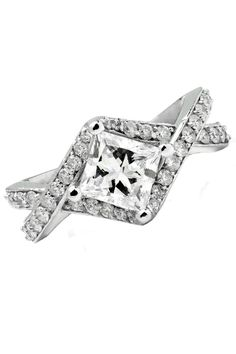 Majesty Diamonds Sizeable 1.43 ct Diamond Engagement Ring in 14k White Gold - Beyond the Rack