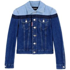 Dsquared2 Denim Outerwear (36.830 RUB) ❤ liked on Polyvore featuring outerwear, blue and dsquared2