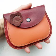 MERRY 2486 Handmade, Leather clutch Large Purse by Fairysteps